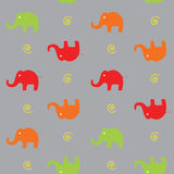 Seamless background with elephants. Royalty Free Stock Image
