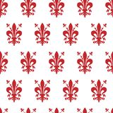 Seamless background with the emblem of Florence royalty free stock photography