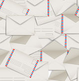 Seamless background of envelopes Royalty Free Stock Photo
