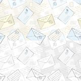 Seamless background with envelopes. Vector seamless background with envelopes Royalty Free Illustration