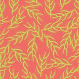 Seamless background exotic florals neon colors vector illustration
