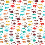 Seamless background with eyes, endless eye pattern Royalty Free Stock Image