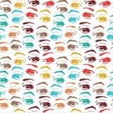 Seamless background with eyes, endless eye pattern.  Royalty Free Stock Image