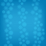 Seamless background of falling snowflakes Royalty Free Stock Photo
