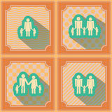 Seamless background  with family members Stock Photos