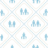 Seamless background  with family members Stock Photo