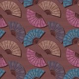 Seamless background with fans Stock Photos