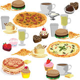 Seamless background of fast food Royalty Free Stock Images
