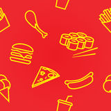 Seamless background fast food Stock Photography
