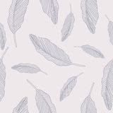 Seamless background with feathers Stock Images