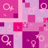 Seamless background with female symbols Royalty Free Stock Photography