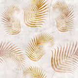 Seamless background with fern. Leaf pattern on old paper Stock Photos