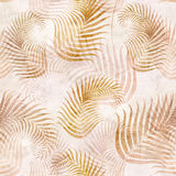 Seamless background with fern. Leaf pattern on old paper Stock Photography