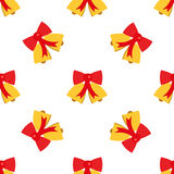 Seamless background festive. Christmas bells. Flat style. Royalty Free Stock Images