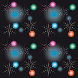 Seamless background with festive lights Stock Images