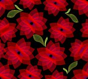 Seamless background with fine outline flowers Royalty Free Stock Photos