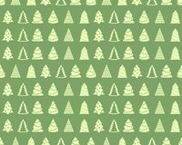 Seamless background with fir trees. Holiday Christmas pattern. Merry Christmas and a Happy New Year Royalty Free Stock Photography