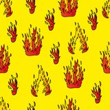 Seamless background with fire. Vector illustration Royalty Free Stock Image