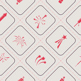 Seamless background with firework icons. For your design Royalty Free Stock Photos