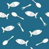 Seamless background with fish Stock Photos