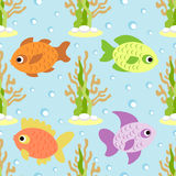 Seamless background with fish Stock Image