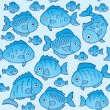 Seamless background with fish drawings 1. Eps10 vector illustration Stock Photography