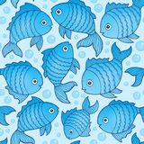 Seamless background with fish drawings 3. Eps10 vector illustration Stock Photography