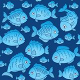 Seamless background with fish drawings 2. Eps10 vector illustration Stock Photo