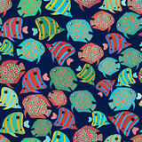 Seamless background fish. Royalty Free Stock Photos