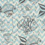 Seamless background with fish, pattern Stock Photography