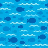 Seamless background fish shadows 1 Royalty Free Stock Images
