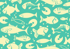 Seamless background of fish Stock Photography