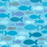 Seamless background fish silhouettes Royalty Free Stock Photo