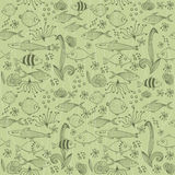 Seamless background with fish in vector Royalty Free Stock Photography