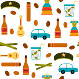 Seamless background with flat colorful objects on Royalty Free Stock Photo