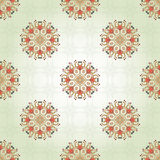 Seamless background with floral delicate round elements Stock Images