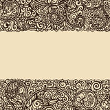 Seamless background. Floral ink drawing, horizontally seamless pattern Royalty Free Stock Images