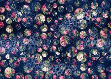 Seamless background from a floral ornament, Fashionable modern wallpaper or textile. Seamless dark blue background from a floral ornament, Fashionable modern vector illustration