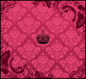 Seamless background floral ornament red. Illustration Royalty Free Stock Images