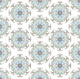 Seamless background from floral ornament round Stock Photography