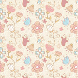 Seamless background floral pattern Royalty Free Stock Photography