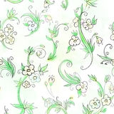 Seamless background floral pattern Stock Image