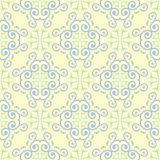 Seamless background with floral pattern. Beige background with light blue and green flower elements. For wallpapers, textile and fabrics Royalty Free Stock Image
