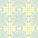 Seamless background with floral pattern. Beige background with light blue and green flower elements. For wallpapers, textile and fabrics Royalty Free Stock Photos