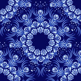 Seamless background. Floral pattern of circular ornaments. Imitation of chinese porcelain painting. Flowers in the style of Chines Royalty Free Stock Photos