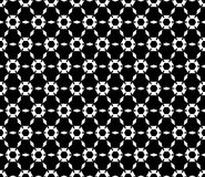 Seamless background, floral pattern, hexagonal grid. Royalty Free Stock Photo