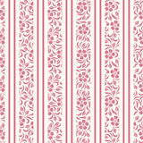Seamless background with floral pattern and stripe Royalty Free Stock Images