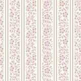 Seamless background with floral pattern and stripe Stock Photos