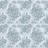 Seamless background with floral pattern for your design. Vector illustration. Elegant floral background for wallpaper, gift paper, fabric print, furniture Stock Photo