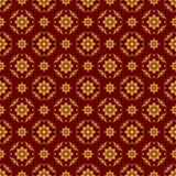 Seamless illustration with floral patterns, vintage golden patterns on Burgundy background. Seamless background with floral patterns, vintage golden patterns on Royalty Free Stock Photo